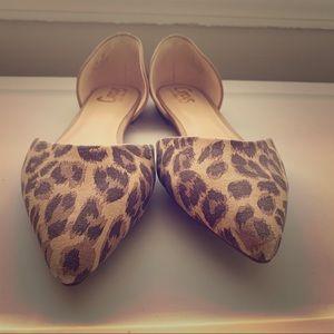 """Sam Edelman """"Circus"""" Leopard D'orsay Flats"""